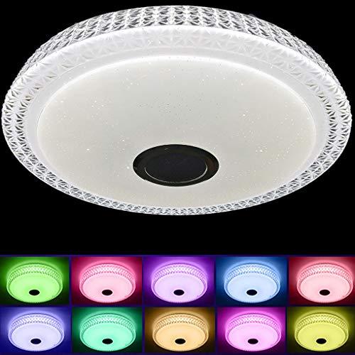BFYLIN 36W Plafón Led Lámpara de Techo Bluetooth, Control Remoto y App, Iluminación RGB Regulable Música Moderno Luz de techo Lámpara de techo (type 2)
