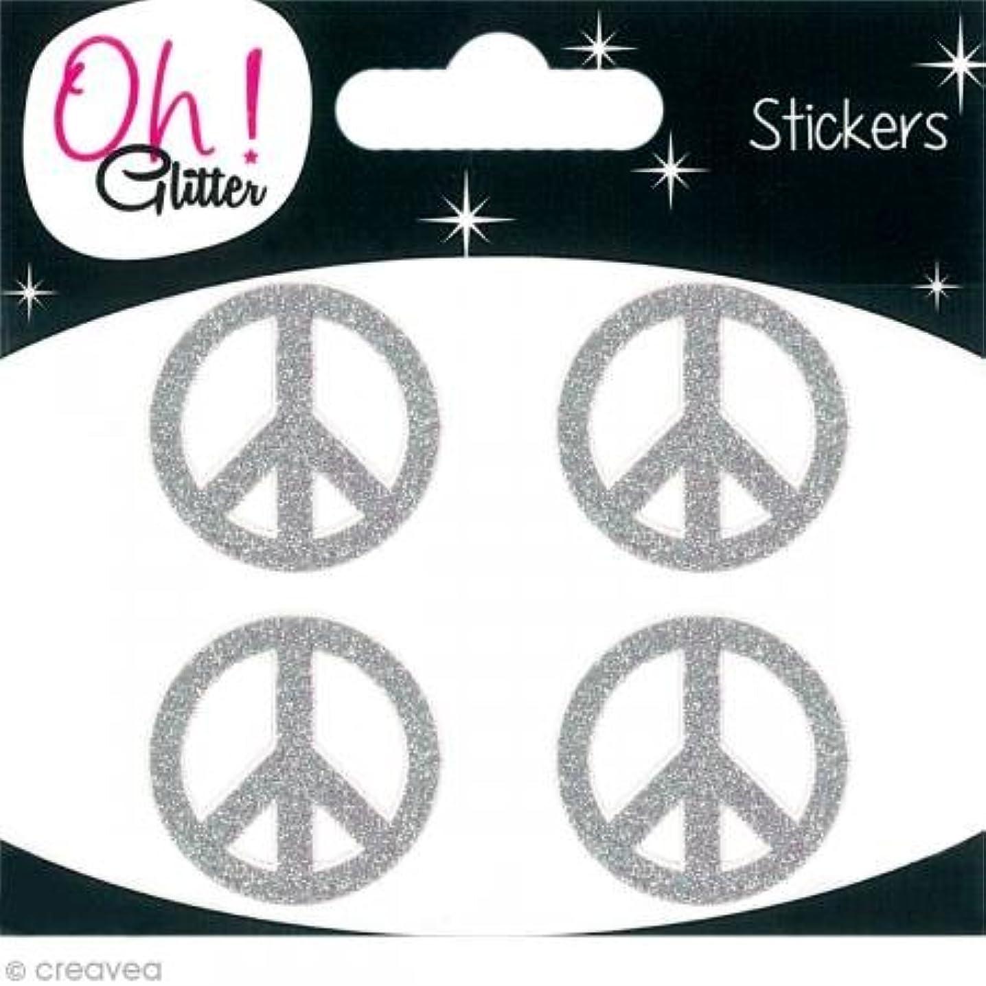 Oh. Paper Glitter Stickers, Glitter Silver, 10?cm x 9.5?cm x 0.2?cm
