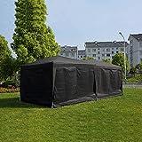 Schnell Zelt 6 x 3m schwerer wasserdicht Pop-up-Pavillon mit Seiten und Taschen # 170g PU-beschichtetem Gewebe # einfach einzurichten,Black