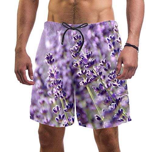 LORVIES Lavender - Bañador para hombre, secado rápido, talla L multicolor L