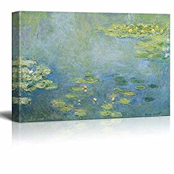 wall26 - Water Lilies by Claude Monet - Canvas Print Wall Art Famous Painting Reproduction - 24  x 36
