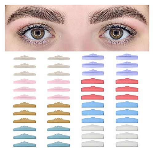 BEYELIAN Lash Lift Pads, 48 Pcs Eyelash Perm Rods, 8 Sizes Reuseable DIY Eyelash Eyelash Perming Curler, Fit Most Eye Shape
