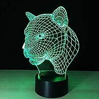 giyiohok 3Dナイトライト目の錯覚ナイトランプマスク形状7色リモコン装飾付きLEDビジュアルナイトライト子供用誕生日プレゼント(2個アクリルパネル)-B33-B11