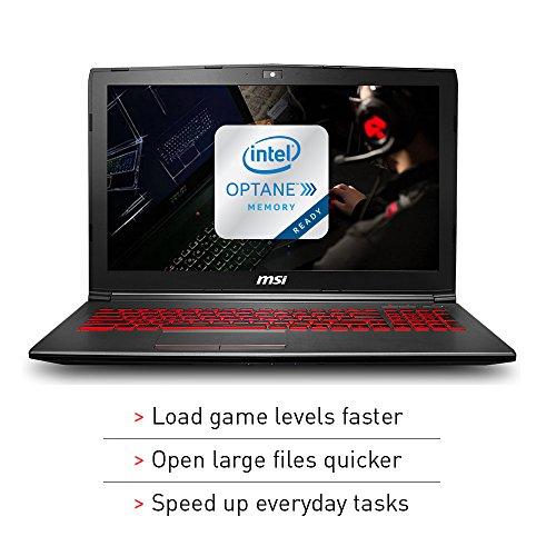 "MSI GV62 8RD-200 15.6"" Full HD Performance Gaming Laptop PC i5-8300H, GTX 1050Ti 4G, 8GB RAM, 16GB Intel Optane Memory + 1TB HDD, Win 10 64 bit, Black, Steelseries Red Backlit  Keys"