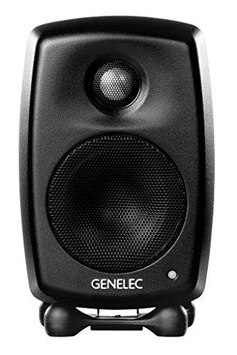 Genelec G One Aktiv Lautsprecher Active Monitor Speakers, Schwarz (Paar)