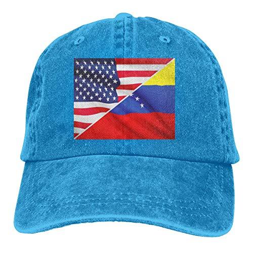 Hat En El Corazón De EE. UU. Relaciones con Venezuela Gorra De Camionero De Vaquero Regalo De Mujer Gorras De Hip-Hop Únicas Y Transpirables para Hombre Sombreros De Béisbol Ajusta