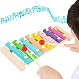 Xylophone, Musical Toy for Kids with Child Safe Mallets, Best Educational Development Musical Kid Toy as Best Holiday/Birthday Gift for Your Mini Musicians.