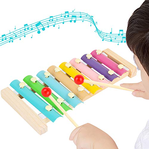 Xylophone Musical Toy for Kids with Child Safe Mallets Best Educational Development Musical Kid Toy as Best Holiday/Birthday Gift for Your Mini Musicians