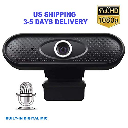 HD 1080p Webcam, Computer Camera with Microphone, Laptop USB PC Webcams, 90-Degree Extended View,Video Web Camera for Calling, Conferencing, Live Streaming Widescreen Webcam