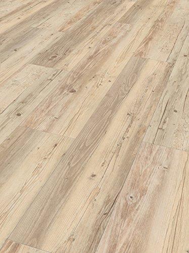 Parador Vinyl Classic 2050 - Vinylboden Pinie weiß geölt 1-Stab - Hochwertiger, elastischer Bodenbelag in Holz-Optik, leise und komfortabel mit Klick-Verlegung
