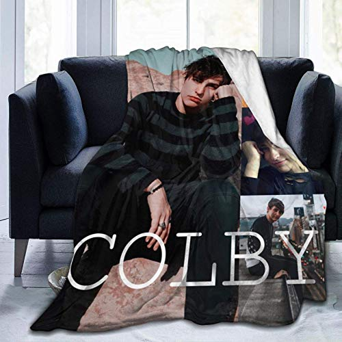 Sam y Colby Soft Blanket Fleece Light Cómodo Franela Cálida Manta de invierno Ropa de cama para el hogar Manta Fleece Vestible de microfibra Dormitorio Sala de estar para niños Adultos 60 'X50