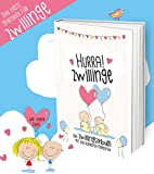 Hurra! Zwillinge - Das 1. Eintragealbum für Zwillinge. Ein einzigartiger Erinnerungsschatz für zwei Babies im 1. Lebensjahr - Rundfux