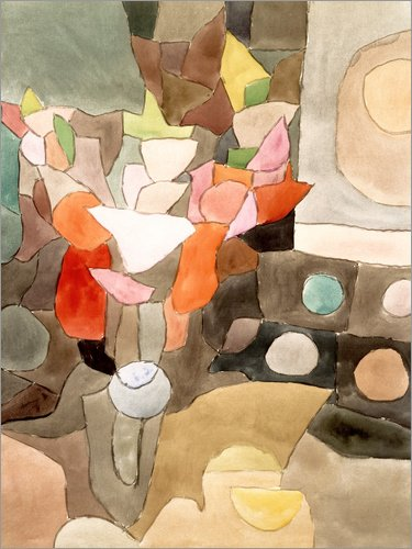 Poster 50 x 70 cm: Gladiolen Stillleben von Paul Klee/ARTOTHEK - hochwertiger Kunstdruck, neues Kunstposter