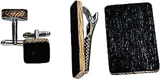 Gentleman's Recycled Bourbon Barrel Gift Set - Cuff links, Money Clip, Tie Clip. Groomsmen GIft, Fathers Day, Graduation