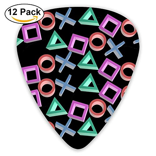 Púas de guitarra Playstation Gamer Sampler - Paquete de 12 accesorios únicos para guitarrista