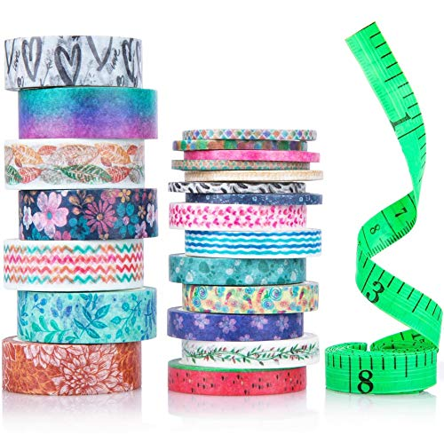 Washi Tape Set, 21 Rolls