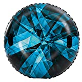 "JOYIN 47"" Inflatable Snow Tube for Kids and Adults, Heavy-Duty Snow Tube for Sledding, Great Inflatable Snow Tubes for Winter Fun and Family Activities"