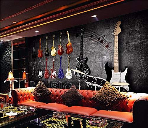 Custom mural 3d wall backgroundsRock musical instruments wall backgrounds living room bedroom Mural 3d wallpaper @ 200 * 140cm