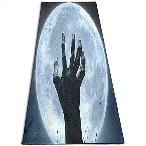 Tapis de Yoga Halloween Moon Tapis de Yoga antidérapants pour Yoga, Pilates, Exercices au Sol, Stretch [61X180Cm]