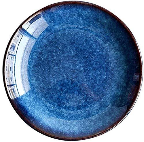 Vajilla occidental azul ojo de gato europeo plato de carne plato de pasta plato de cerámica plato de ensalada tazón de sopa grande