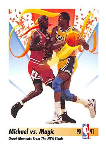 1991-92 SkyBox Basketball #333 Michael Jordan/Magic Johnson Chicago Bulls/Los Angeles Lakers Official NBA Trading Card