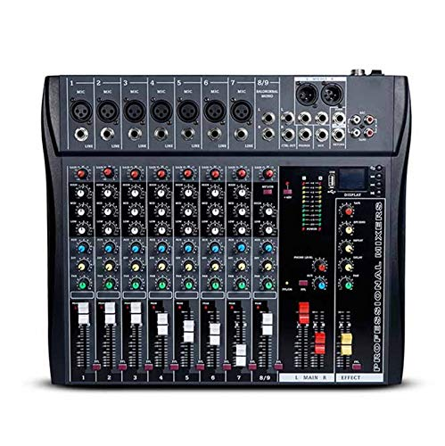 Mesas de Mezclas, Mezclador Audio USB 8 Channel Meeting U Disk MP3 DI Mezclador Mezclador de Audio