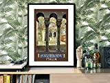 Ravenna Travel Poster Unframed Fine Art Print Paper Poster Wall Decor, 24 x 33 Inches