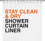 LiBa PEVA Shower Curtain Liner 72' W x72 H Clear 10G...
