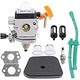 Hipa Carburetor for STHIL FS100 FS100R FS110 FS110R FS110X FS110RX FS100RX FS130 FS130R Trimmer with Air Filter Fuel Line Tune Up Kit