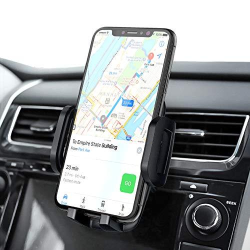 Mpow Soporte Coche Móvil, Soporte Móvil Coche Rejillas del Aire con Abrazadera Ajustable de 3 Niveles, Rotación de 360° del Soporte de Automóvil para iPhone12 Pro Max/12 Pro/12/11/SE/8/ Galaxy S20/S10
