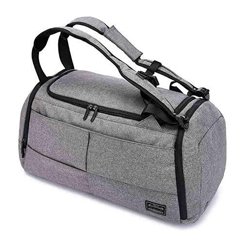 Baulanna stijlvolle sporttas voor mannen en vrouwen, waterdichte reistas, bagage rugzak met schoenenvak & natvak, 40 liter handbagage weekender