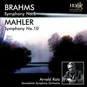 Brahms: Symphony No.2 in D Major, Op.73; Mahler: Symphony No.10 in F-Sharp Major (Original Version) [Original Version]