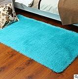 Kanggest Alfombras para Salón Modernas Dormitorio Antideslizante Alfombra, 50 * 80cm, Azul