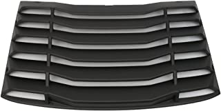 Windshield Louver Compatible With 2016-2020 Chevy Camaro   IKON Style Rear Window Louvers Cover Sun Shade ABS by IKON MOTORSPORTS   2017 2018