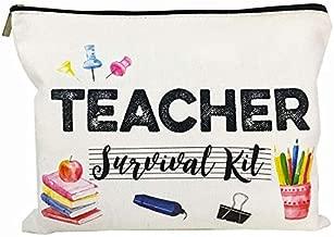 Teacher Appreciation Gifts Music Teacher Gifts Teacher survival kit Teacher Supplies for Classroom Best Teacher Gift Small Gift Bags Makeup Bag Teacher Bag for Women