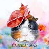 Calendar 2022: Guinea Pig Watercolor Portraits September 2021 - December 2022 Monthly Planner Mini Calendar With Inspirational Quotes (Watercolor Animal Portraits Calendars 2022)