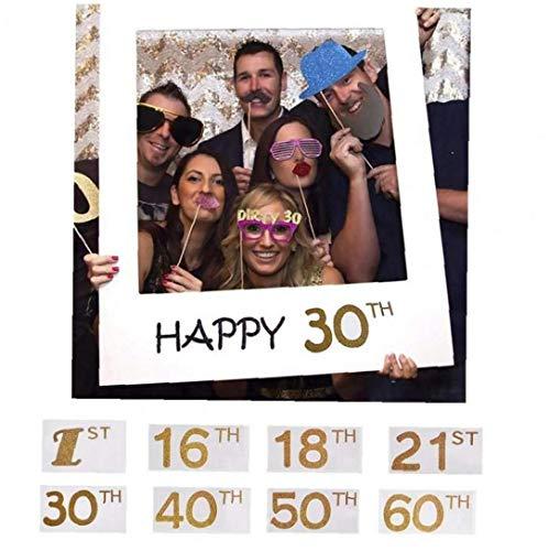 Materiali Cornice Tagli Selfie Parte Telaio Fun Photo Booth Puntelli Del Partito Per La Decorazione Della Festa Di Compleanno (18 °)