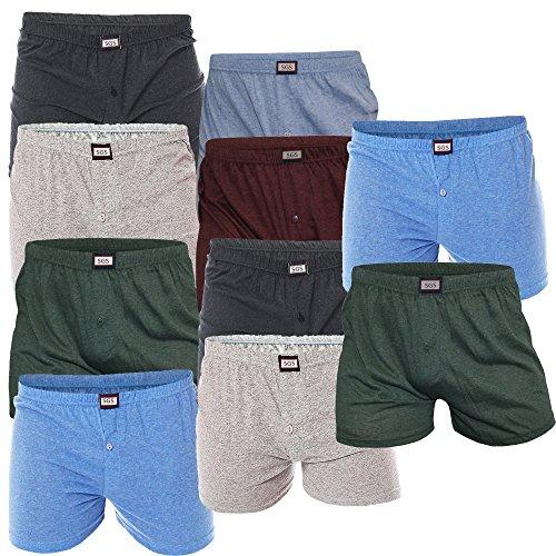 SGS 10er Pack Shorts für Herren Boxershorts Retrounterhosen (L)