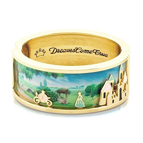 Disney Couture Kingdom Brazalete ancho de oro de 14 quilates y esmalte de Cenicienta y castillo mágico