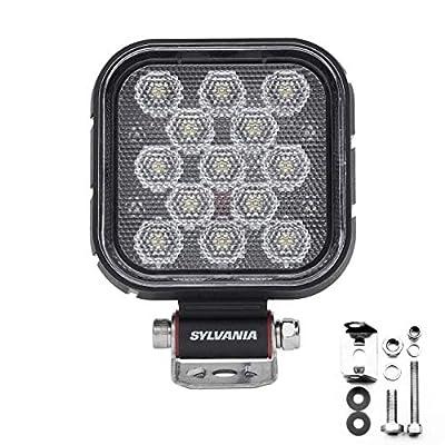 SYLVANIA - Rugged 4 Inch Cube LED Light Pod - Lifetime Limited Warranty - Flood Light 2100 Raw Lumens, Best Quality Off Road Driving Work Light, Truck, Jeep, Boat, ATV, UTV, SUV, 4x4 (1 PC)