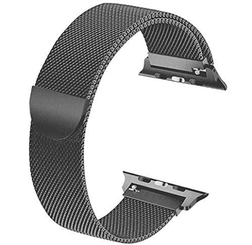 Tervoka Ersatzarmband kompatibel mit Apple Watch Armband 40mm 38mm, Metal Edelstahl Armband mit Magnet kompatibel mit iWatch Series 6/5/4/3/2/1, Spacegray