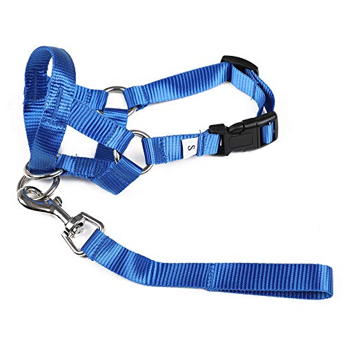 Gentle Leader Headcollar,Collar, Leash Harness Training, for Large Medium and Small Dogs, Blue, XXS