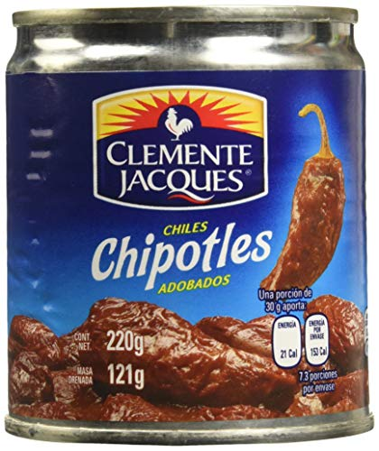 MexGrocer Clemente Jacques Chipotle Peppers in Adobo Sauce 210 g (Pack of 3)