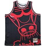 Mitchell & Ness Chicago Bulls Black Big Face Jersey Swingman NBA HWC Basketball Trikot