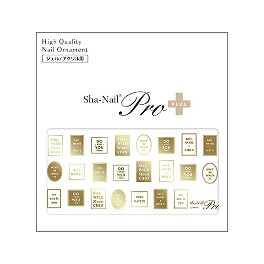 差別する克服するやさしいSha-Nail PLUS(写ネイルプラス) ネイルシール ラベル ゴールド