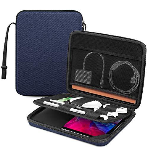 """FINPAC Portfolio Tasche Schutzhülle für iPad Pro 11\"""" 2021, iPad Air 4 10,9\"""", iPad 10,2\"""" 2020, 10,5\"""" iPad Air/Pro, 11-Zoll Tablet Tragetasche Hartschalen Tasche Zubehör Organizer, Marineblau"""