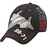 Sporty's Adjustable Black SR-71 Blackbird Airplane Embroidered Cap Hat