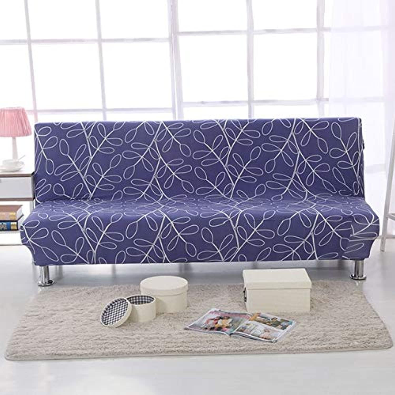Spandex Sofa Bed Cover Stretch No armrests Tight Wrap Sofa Cover for Living Room Soft Slipcovers Elastic Couch Cover cubre Sofa   color 24, 160-190cm