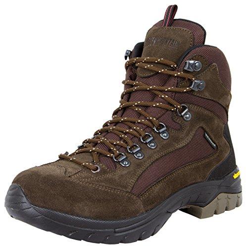GUGGEN Mountain Herren Damen Wanderschuhe Bergschuhe wasserdicht Outdoor-Schuhe Walkingschuhe HPM51, Farbe Braun, EU 43