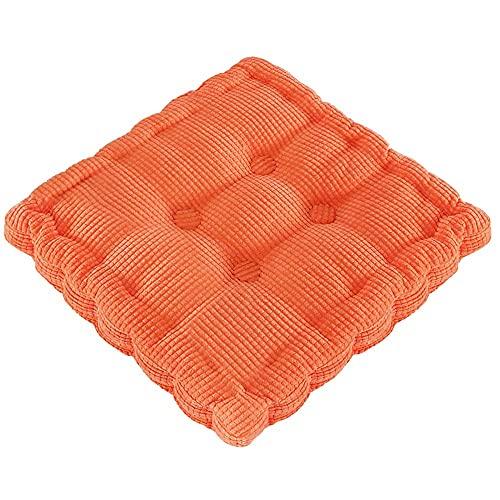 RR&LL Cojines de pana para asiento de suelo, gruesos cojines de silla antideslizantes, adecuados para sillas de comedor, hogar, oficinas Tatami